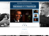 """Microsite featuring """"The Road We've Traveled"""" video and information on President Obama's growth during his first 4 years."""